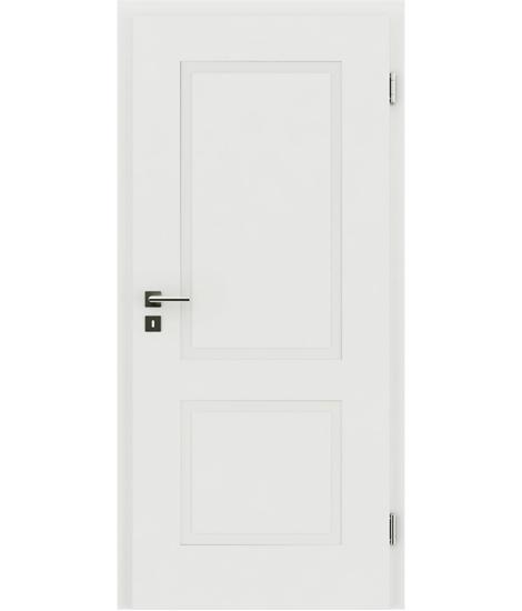belo pleskana notranja vrata z reliefi KAISERline - R38L belo pleskano