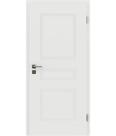 belo pleskana notranja vrata z reliefi KAISERline - R39L belo pleskano