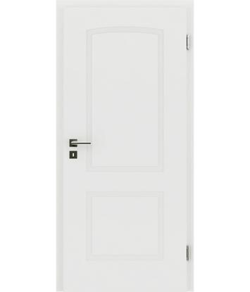 Picture of belo pleskana notranja vrata z reliefi KAISERline - R40L z lokom, belo pleskano