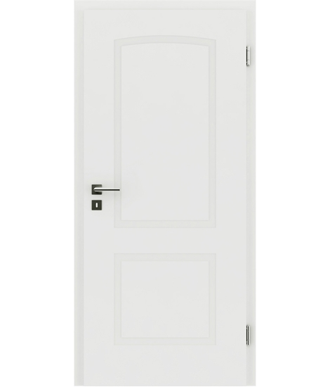 belo pleskana notranja vrata z reliefi KAISERline - R40L z lokom, belo pleskano