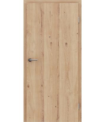 Furnirana notranja vrata s pokončno strukturo Greenline hrast grča poč krtačen mat lužen lakiran