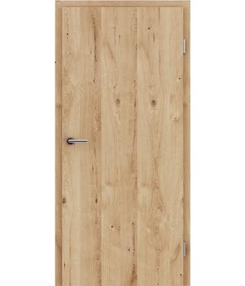 Furnirana notranja vrata s pokončno strukturo GREENline - hrast grča poč krtačen natur lakiran