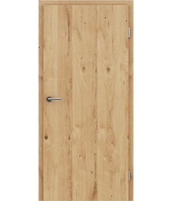 Furnirana notranja vrata s pokončno strukturo GREENline - hrast grča poč krtačen oljen