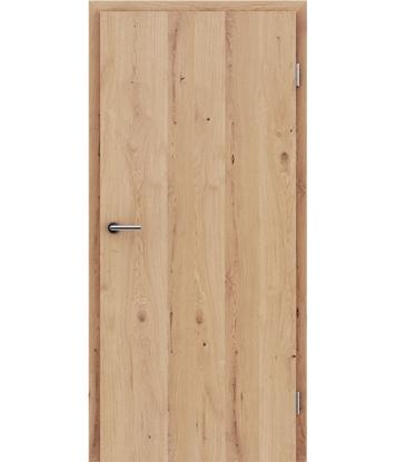 Furnirana notranja vrata s pokončno strukturo GREENline - hrast grča poč mat lužen lakiran