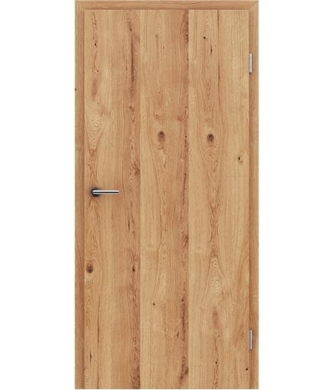 Furnirana notranja vrata s pokončno strukturo GREENline - hrast grča poč natur lakiran