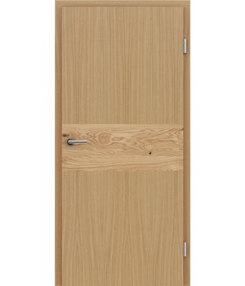 Furnirana notranja vrata z intarzijskimi vstavki HIGHline - I39 hrast vstavek hrast grča