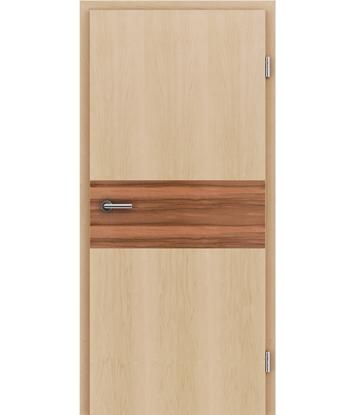 Picture of Furnirana notranja vrata z intarzijskimi vstavki HIGHline - I39 javor vstavek indijsko jabolko