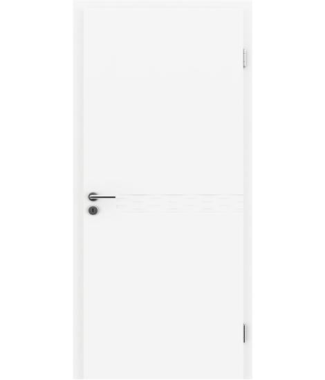 Belo pleskana notranja vrata z utori COLORline - TWIST R75L