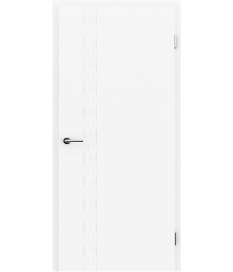 Belo pleskana notranja vrata z utori COLORline - TWIST R76L