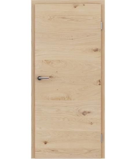 Furnirana notranja vrata s pokončno in/ali prečno strukturo VIVACEline - F4 hrast grča belo oljen