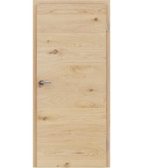 Furnirana notranja vrata s pokončno in/ali prečno strukturo VIVACEline - F4 hrast grča krtačen belo oljen