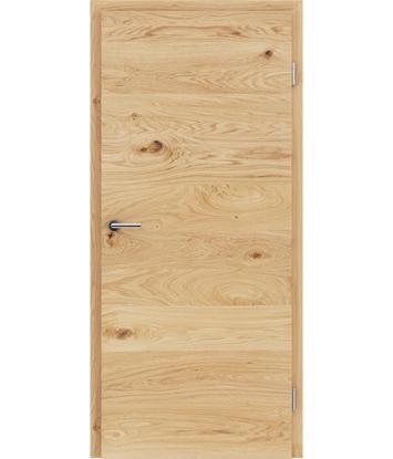 Picture of Furnirana notranja vrata s pokončno in/ali prečno strukturo VIVACEline - F4 hrast grča krtačen natur lakiran