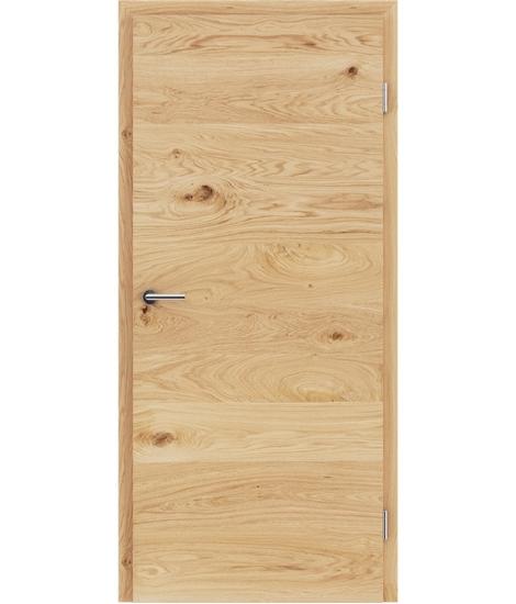Furnirana notranja vrata s pokončno in/ali prečno strukturo VIVACEline - F4 hrast grča krtačen natur lakiran