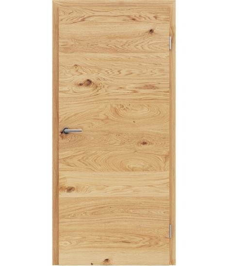 Furnirana notranja vrata s pokončno in/ali prečno strukturo VIVACEline - F4 hrast grča krtačen oljen