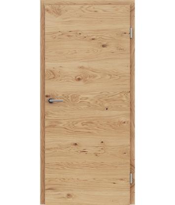 Furnirana notranja vrata s pokončno in/ali prečno strukturo VIVACEline - F4 hrast grča natur lakiran