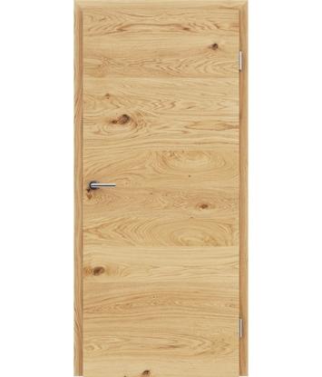 Furnirana notranja vrata s pokončno in/ali prečno strukturo VIVACEline - F4 hrast grča oljen