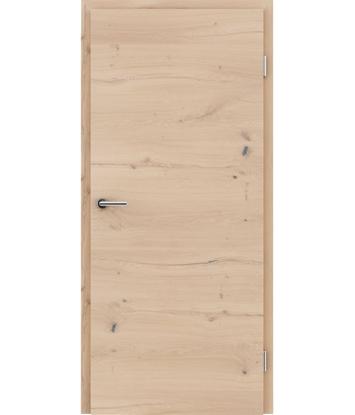 Furnirana notranja vrata s pokončno in/ali prečno strukturo VIVACEline - F4 hrast grča poč belo oljen