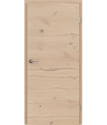 Furnirana notranja vrata s pokončno in/ali prečno strukturo VIVACEline - F4 hrast grča poč krtačen belo oljen