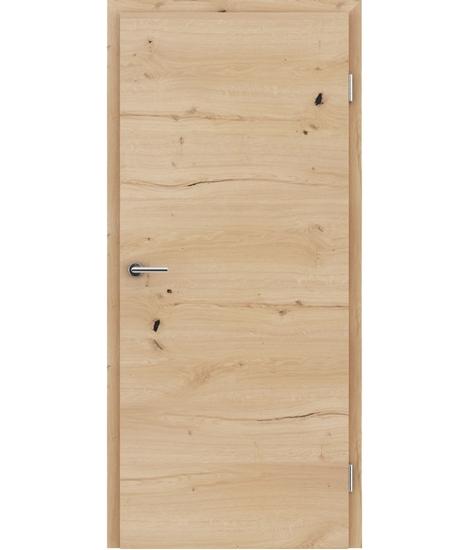 Furnirana notranja vrata s pokončno in/ali prečno strukturo VIVACEline - F4 hrast grča poč mat lužen lakiran