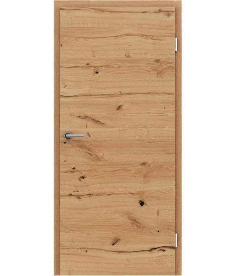 Furnirana notranja vrata s pokončno in/ali prečno strukturo VIVACEline - F4 hrast grča poč natur lakiran