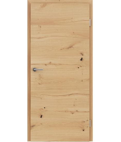 Furnirana notranja vrata s pokončno in/ali prečno strukturo VIVACEline - F4 hrast grča poč oljen
