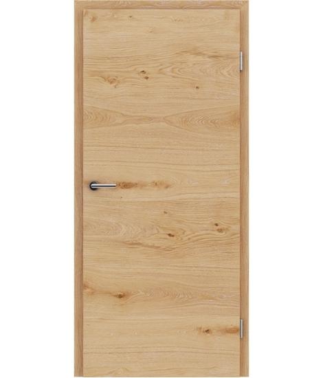Furnirana notranja vrata s pokončno in/ali prečno strukturo VIVACEline - F4 hrast grča z belimi porami