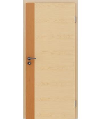 Furnirana notranja vrata s pokončno in/ali prečno strukturo VIVACEline - F5 jelša vstavek javor