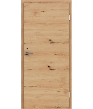 Picture of Furnirana notranja vrata s pokončno in/ali prečno strukturo VIVACEline - F4 hrast grča poč krtačen natur lakiran