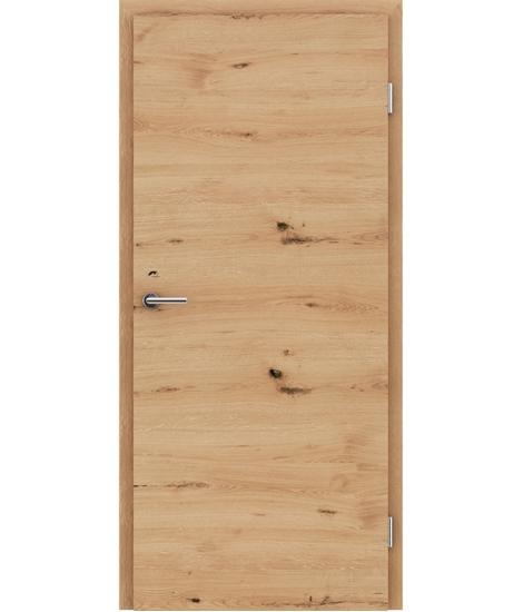 Furnirana notranja vrata s pokončno in/ali prečno strukturo VIVACEline - F4 hrast grča poč krtačen natur lakiran