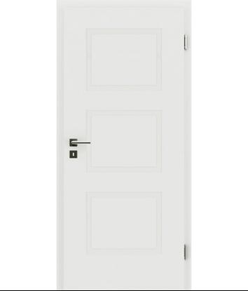 Picture of belo pleskana notranja vrata z reliefi KAISERline - R49L, belo pleskano