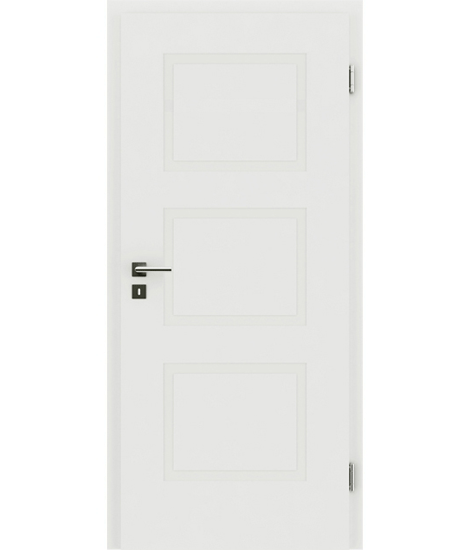 belo pleskana notranja vrata z reliefi KAISERline - R49L, belo pleskano