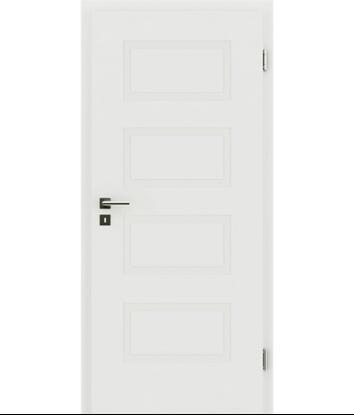 Picture of belo pleskana notranja vrata z reliefi KAISERline - R71L, belo pleskano