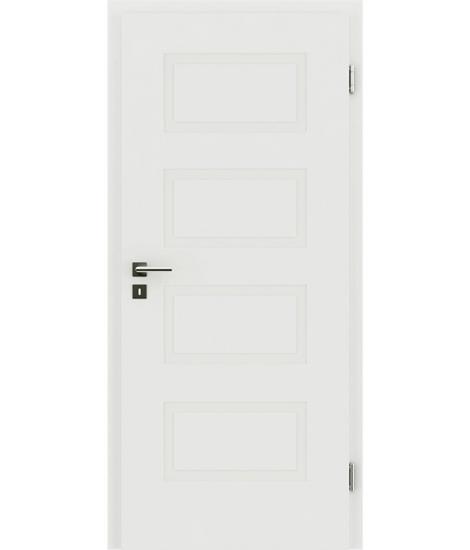 belo pleskana notranja vrata z reliefi KAISERline - R71L, belo pleskano